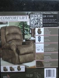 Lift chair with heat and massage features.