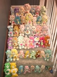 54 vintage Care Bears. (44 shown here).