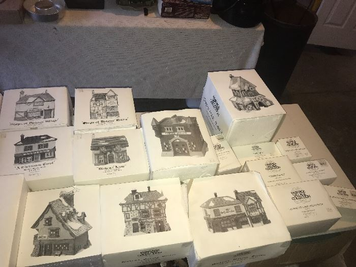 Dickens' Village Collection. A lot of them!