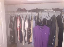 Men's clothing   Bonobos pants, various designer shirts