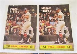 1968 Detroit Tigers Official scorebook (2)