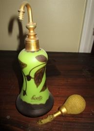Loetz Art Nouveau Glass perfume, atomizer as is.