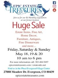 estate sales May 18, 19, 20