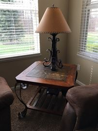 Matching end table, lamp