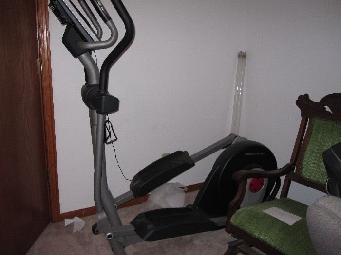 lots of exercise equipment