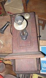 complete antique phone