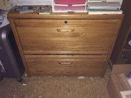 Solid oak office furnture