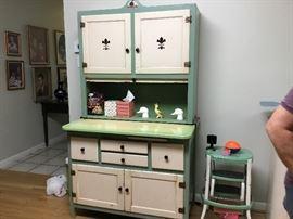 Vintage kitchen cupboard, Hoosier style