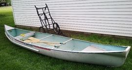 17' Alumacraft canoe, Indian Head oars