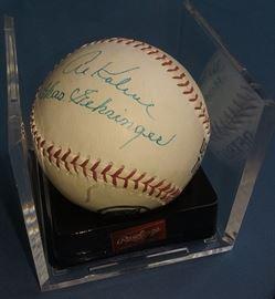 Al Kaline, Charles Gehringer signed baseball