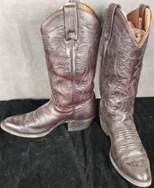 Size 8 1/2 D Men's Cowboy Western Boots Made in Te ...