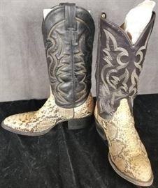 Tony Lama Size 8 EE Men's Cowboy Western Boots Sn ...