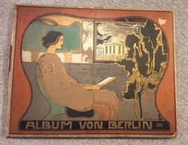 Album von Berlin, circa 1904 large format book with B & W photos of German cities of Charlottenburg & Potsdam. Awesome Jugendstil cover!