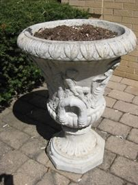 Large cement urn
