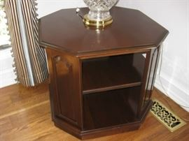 Octagon cherry accent table