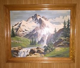 """one of several """"paint by numbers"""" art pieces"""