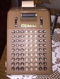 vintage Victor adding machine