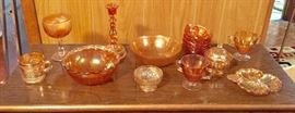 various carnival glass