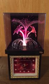 vintage fiber optic flower clock