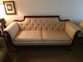 Duncan Phyfe Claw Foot Sofa