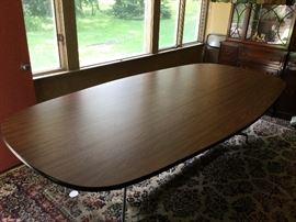 "Vintage Herman Miller 9' x 54""  Conference Table w/Metal Base Legs"