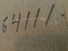 Number marking of conference table on underside