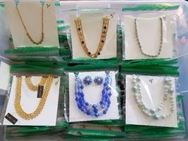 Boxes full of necklaces