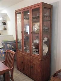 Available for Presale !  Includes 2 leafs China cabinet, Table and 6 chairs. $450.00