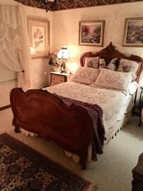 Gorgeous Antique bed with custom mattress