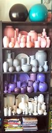 "Vases, Ginger Jars And Decorating Books, Includes Bookcase 71""H x 30""L x 12""D"