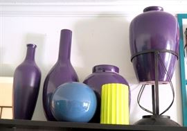 """Vases, Candlesticks, Pots And More, Includes Bookcase 71""""H x 30""""L x 12""""D"""