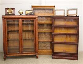 Bookcases, vintage radios