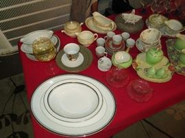 Noritake Sarabande serving pieces, Rosenthal coffee set, Limoges pieces, Royal Winton , Sango Versailles