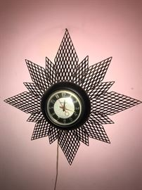 Cool vintage wall clock!