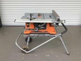 Ridgid 10 inch portable table saw