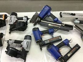 Pneumatic siding and staple guns