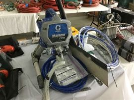 Graco paint rig with attachments