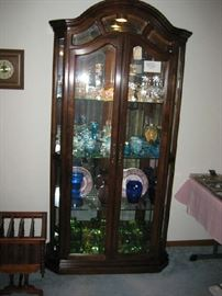 lighted curio by American of Martinsville