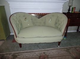 Just too adorable- tufted love seat