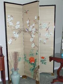 Oriental screen - 4 panels