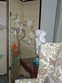 Other side of Oriental screen