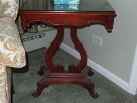 Beautiful pair of antique Lyre tables