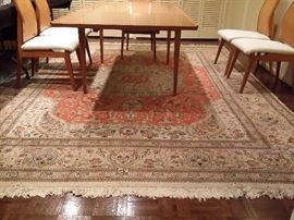 Vintage area rug, measures 8ft.6in. X 14ft.3in.