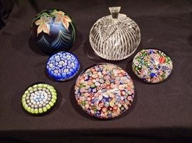 Paperweights are Baccarat, Waterford, Orient & flume, Murano, & St. Louis glass