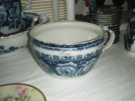 ANTIQUE CHAMBER POT WHICH MATCHES THE  PITCHER AND BOWL. IT'S ALSO IN PERFECT CONDITION