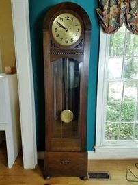 German Unger Grandfather Clock   http://www.ctonlineauctions.com/detail.asp?id=712368