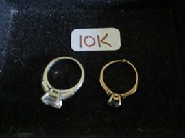 10K RINGS  W/STONES