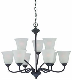 Thomas Holly 9 Light Chandelier Painted Bronze