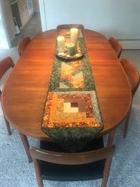 Swedish table, Moller chairs