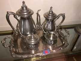Silverplate and sterling pieces...